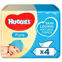 Huggies Baby Wipes Pure Quads 56s