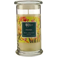 Wax Lyrical RHS scented large wax candle filled glass freesia