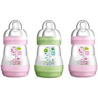 MAM Anti Colic 160ml Bottle x3 Pink