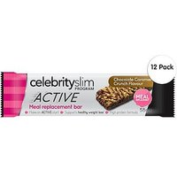 Celebrity Slim ACTIVE Caramel Crunch Meal Replacement Bar x12