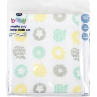 Boots Baby Muslin and Burp Cloth Set