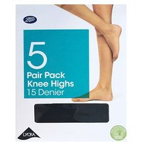 Basic Mulitpack Knee Highs Black O/S