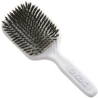Kent Brushes AirHedz Medium pure bristle paddle brush white AH13W