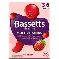 Bassetts Strawberry Flavour Multivitamins 3-6 Years - 30 Pack