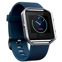 Fitbit Blaze Fitness Super Watch - Blue/Silver (Large)