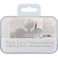 Juice Triple Mains Charger - White