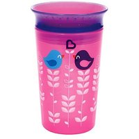 Munchkin 9oz Miracle 360 Deco Sippy Cup Pink Bird