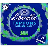 Boots Liberelle applicator tampon super 20s