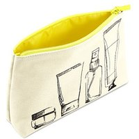 Boots Illustration Yellow Zip Beauty Bag