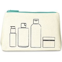 Boots Illustration Blue Zip Beauty Bag