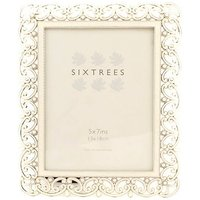 Sixtrees Sophia 7x5 Silver Beaded Photo Frame