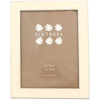 Sixtrees Jessica 7x5 Silver Plated Enamel Photo Frame