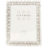 Sixtrees Beatrice 7x5 Ornate Silver Photo Frame