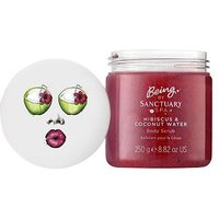 Being by Sanctuary hibiscus and coconut water body scrub 250g