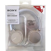 Sony Style overhead headphones with mic gold