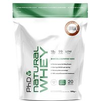 PhD Natural Whey Protein Powder - Chocolate (500g)