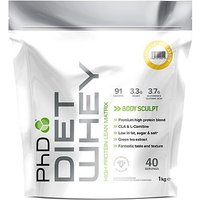 PhD Diet Whey Protein Powder - Vanilla Crme (1kg)