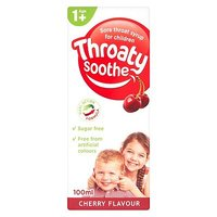 Throaty Soothe Syrup Cherry Flavour - Age 1+ (100ml)