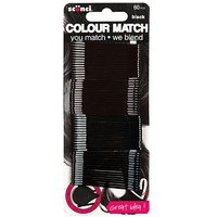 Scunci Colour Match Black Bobby Pins 60s