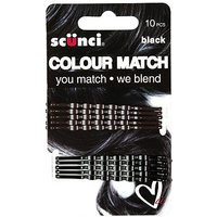 Scunci Colour Match Wavy Black Bobby 10s