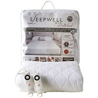 Sleepwell by Dreamland Luxurious Cotton Heated Mattress Protector - Super King Dual Control