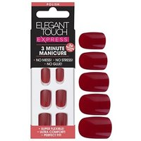 Elegant touch Express Polished Nails Ruby Red