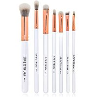 Spectrum 7 Piece Marbelous Smoke Brush Set - White