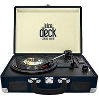 Juice Vinyl Turntable Briefcase Vinyl Record Player - Blue