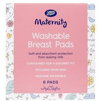 Boots Maternity Washable Breast Pads - 1 x 6 Pads