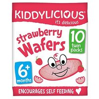 Kiddylicious Strawberry Wafers 10 x 4g 40g