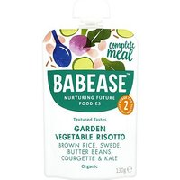 Babease Organic Brown Rice, Swede, Butter Beans, Courgette & Kale Suitable From Around 7 Months 130g