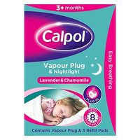 Calpol Vapour Plug In & Nightlight - Lavender & Chamomile