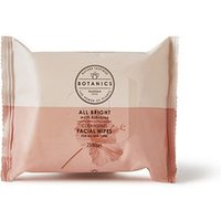 Botanics All Bright Cleansing Face Wipes - 25 Wipes