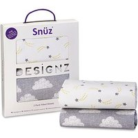 Snz Crib 2 Pack Fitted Sheets Cloud Nine