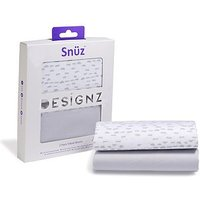 Snz Crib 2 Pack Fitted Sheets Geo Mono