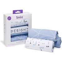 Snz 3 Piece Crib Bedding Set Geo Breeze
