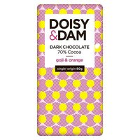 Doisy & Dam Goji and Orange Dark Chocolate 80g