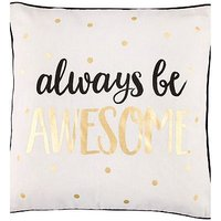Sass & Belle Metallic Monochrome Always Be Awesome Cushion