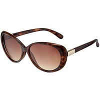 Boots Ladies Oval Sunglasses with Gold Temple Detail