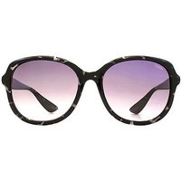 Sunna Womens Dark Spray on Clear Purple Sunglasses