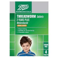 Boots Threadworm Tablets - 4 Tablets