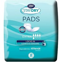 Boots Staydry Extra Pads - 10 Pads