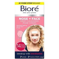 Bior Deep Cleansing Pore Strips Combo 7 Nose Strips & 7 Face Strips
