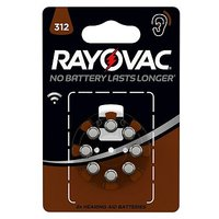 Rayovac 312 Hearing Aid Battery - pack of 8 batteries