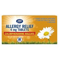 Boots Allergy Relief 4mg Tablets Chlorphenamine Maleate - 60 tablets (6 years +)