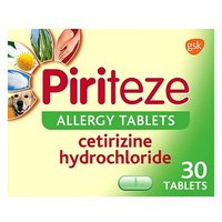 Piriteze Allergy Relief Tablets Cetirizine 30s