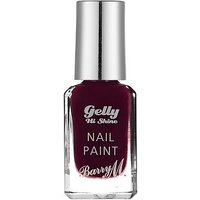 Barry M Gelly High Shine nail paint Black Cherry 10ml