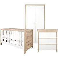 Tutti Bambini Modena 3 Piece Room Set (Cot Bed, Changer, Wardrobe)