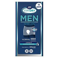 Boots StayDry Men Normal Shields - 120 Shields (12 Pack Bundle)