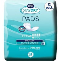 Boots Staydry Extra Pads - 120 Pads (12 Pack Bundle)